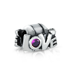 Alengio Bead Love Text mit CZ A375czf