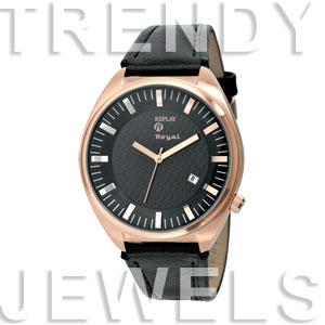 Replay Royal - Uhr 48 mm Schwarz/Gold RWRX8303NH