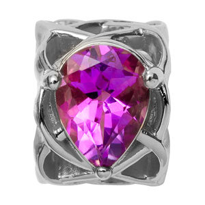Endless Pear Amethyst Lila Silber Element 21451