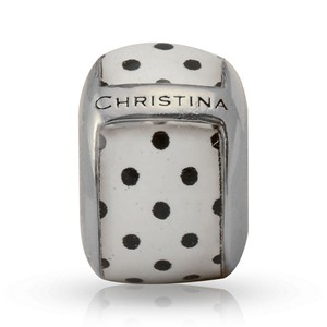 Endless Enamel Dots White Charm 22114