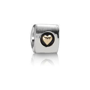 Pandora Bead Heart of Gold 790305