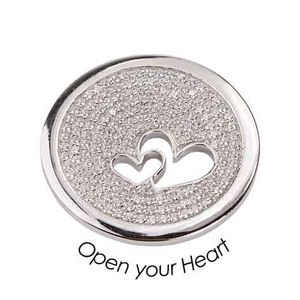 Quoins Coin (M) Open Your Heart 925 Sterling Silver QMZS-02M